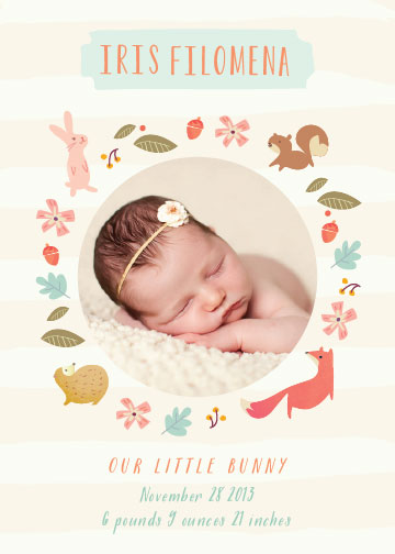 birth announcements - Woodland Baby by Lori Wemple