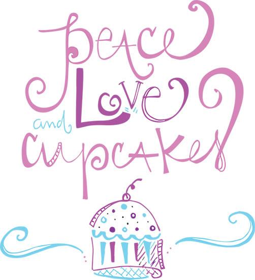 art prints - Peace Love + Cupcakes by Stephanie Krist