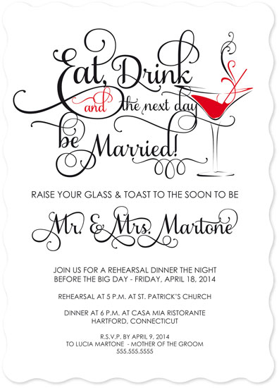 cards - Eat, Drink & The Next Day Be Married by Barbara Caruso