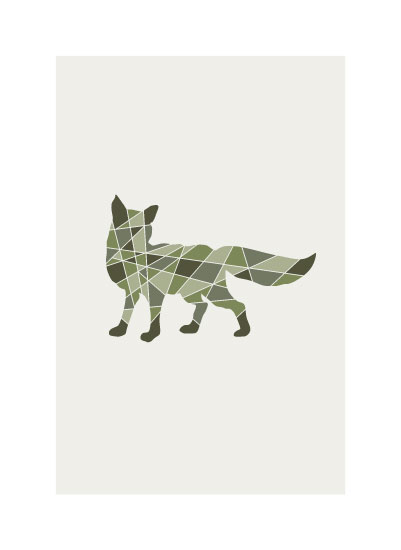 art prints - Fox Geomtery by Jennifer Morehead