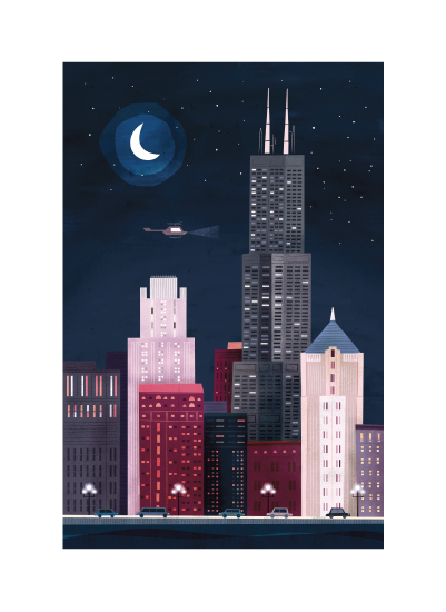 art prints - Nighttime Lake Shore Drive by Morgan Ramberg