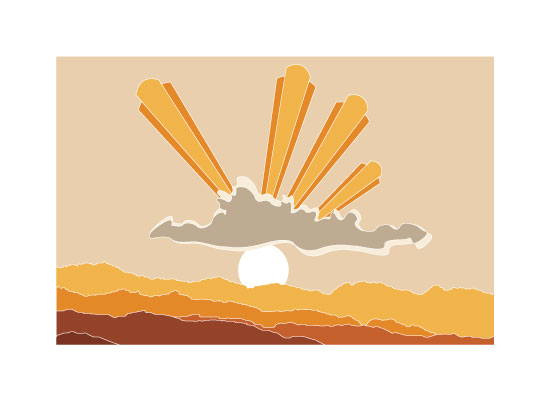 art prints - Desert Sunset by Lesive Designs