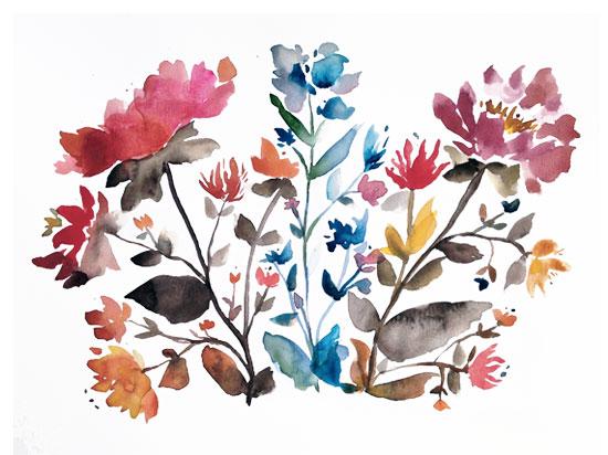 art prints - island wildflowers no.1 by Kiana Mosley