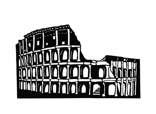 art prints - Holiday in Rome by Jade Tran