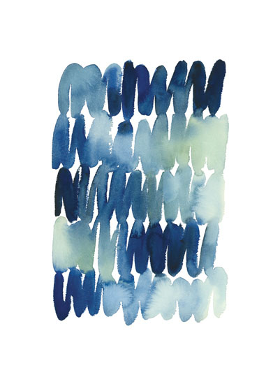 art prints - Scribbles in Blue by Yao Cheng Design