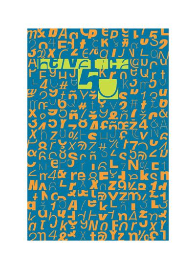 art prints - Helvetica 50 by Gergely Matyus