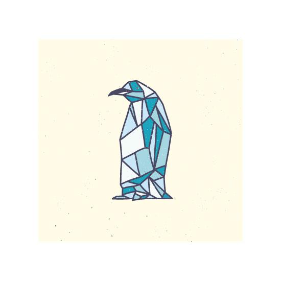 art prints - Penguin Polygon by hello molly