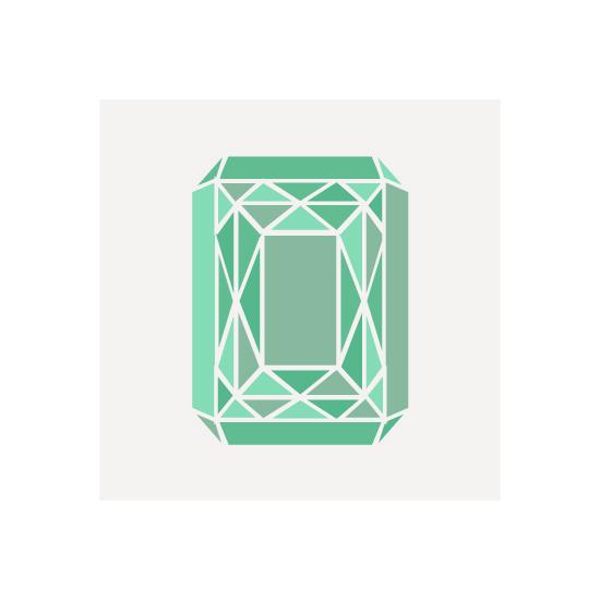 art prints - Radiant Cut Gemstone by Hannah Chaussee