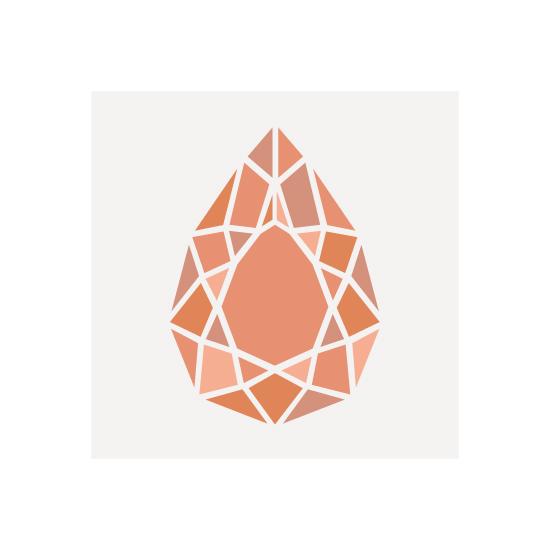 art prints - Pear Cut Gemstone by Hannah Chaussee