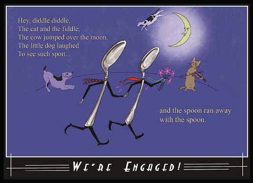 cards - Spoon Toon for Gay Couple Engagement by Diane