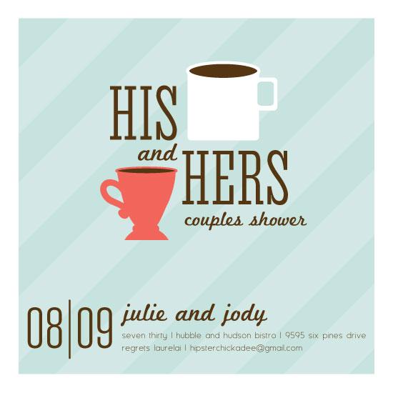 cards - Mug and Tasse Couples Shower by Karen Thomas