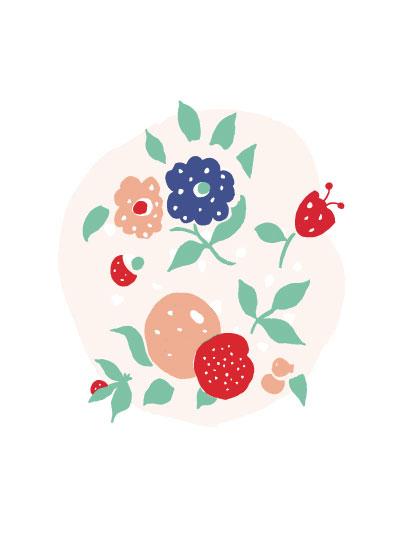 art prints - Floral Pods 3 by Melissa Nicholson