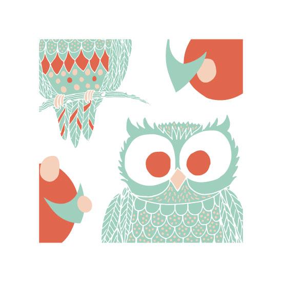 art prints - Owl Who Two by Melissa Nicholson