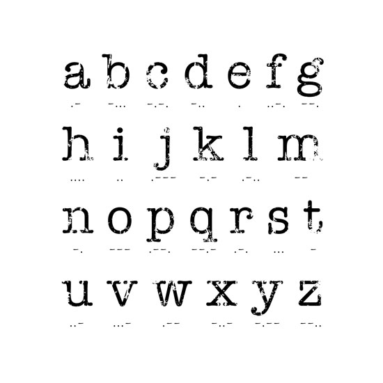 art prints - Morse Code Alphabet by Lisa Zizza McSweeney