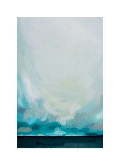 art prints - Teal Winds by Emily Jeffords