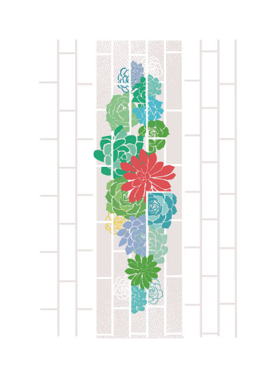 art prints - Vertical Succulents by Sherry Lam