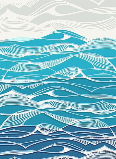 art prints - Tempestuous Seas by Gill Eggleston