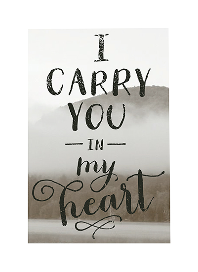 art prints - I Carry You in My Heart by Alston Wise
