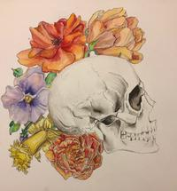 Flora Skull by Darcy Edwin