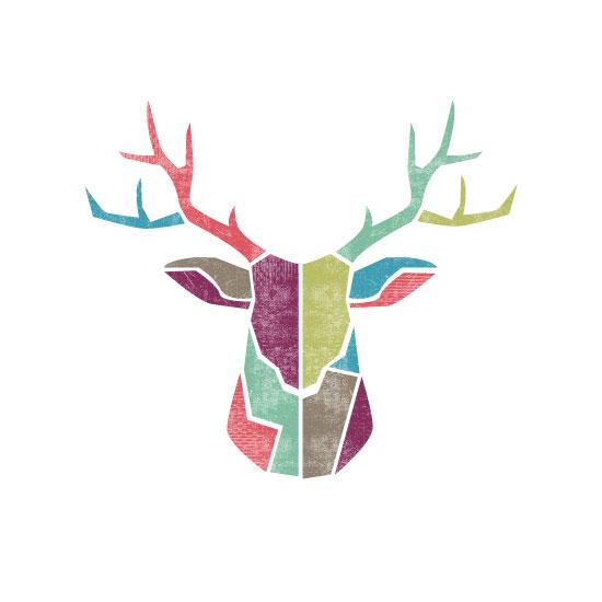 art prints - Abstract Deer Trophy by Daniela