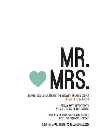 cards - Bold Mr. and Mrs. by loves me knot designs