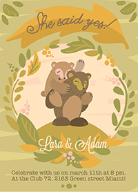 cards - bear love by Barbara Treszner
