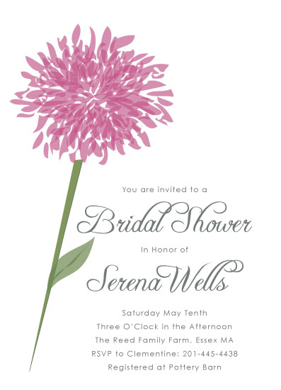 cards - A Dahlia for the Bride by Nina Hatch