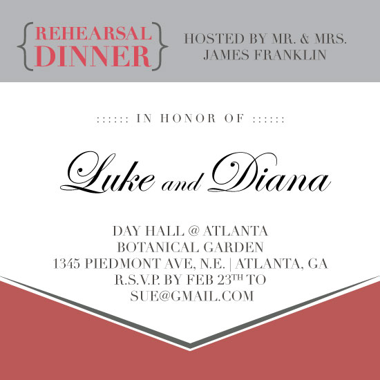 cards - Modern and Classical Rehearsal Dinner by Ah Vang