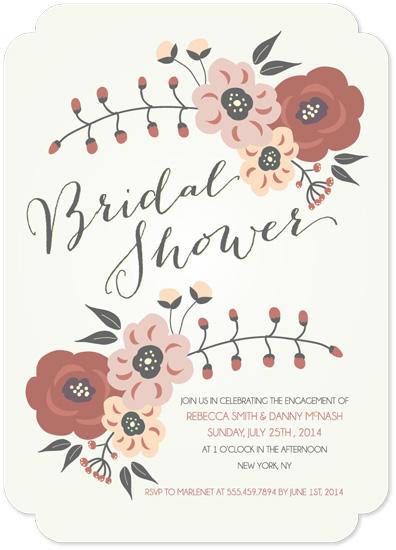 cards - Cream Floral Bouquet by Yvette Slaney