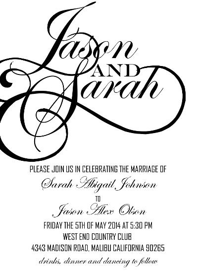 cards - elegant modern script by marishah erickson