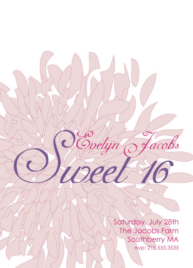 cards - Dahlia Sweet Sixteen by Nina Hatch