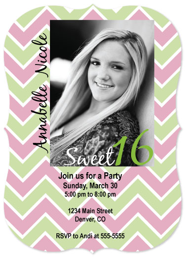 cards - Chevron Party by Allison Grice