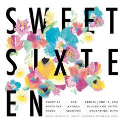 Floral Sixteenth