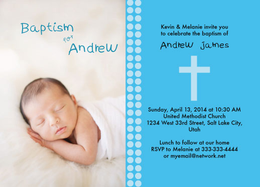 cards - Baptismal Cross by Allison Grice