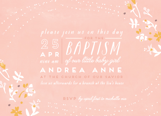 cards - Floral Baptism by Lori Wemple