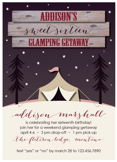 cards - Glamping Getaway by Bluejay Paper