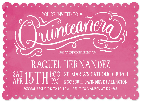 cards - Papel Picado Quinceañera by Laura Bolter Design