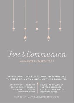 Star Lights First Communion
