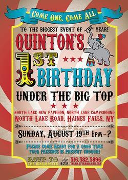 Vintage Big Top Circus Invitation