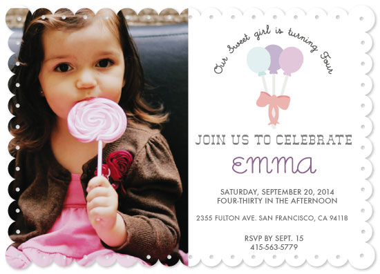 party invitations - Sweet Birthday Wishes by Dana Jennings