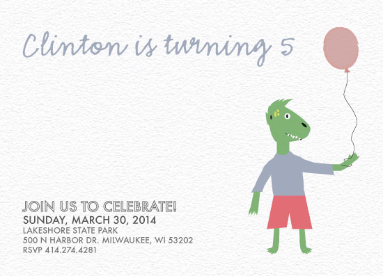 party invitations - Little Dino by Dana Jennings