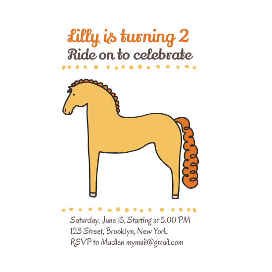 party invitations - Cute horse girl birthday invitation by Olga Zakharova