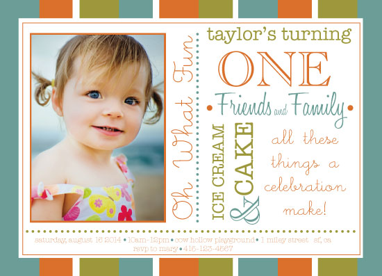party invitations - Oh What Fun by Sarah Tarantino
