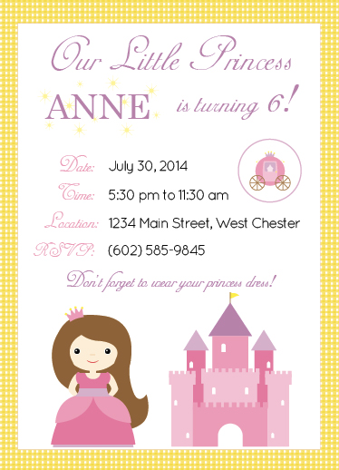 party invitations - Princess Dress Up by Leslie