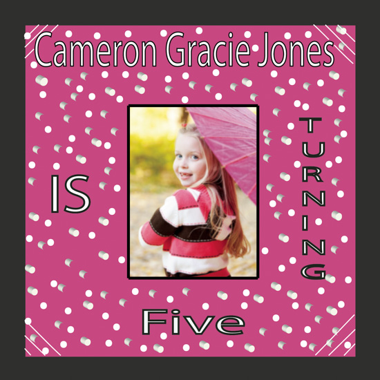 party invitations - Cameron Gracie by Kristin