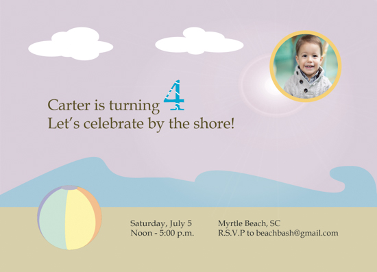 party invitations - beach bash by Jessica Sunday