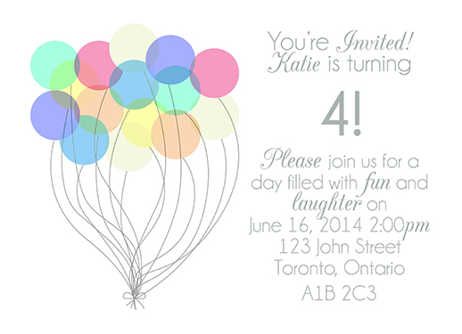 party invitations - Up by Kimi