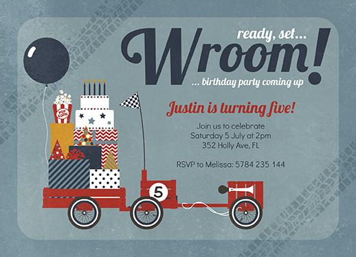party invitations - Soapbox Race Car by Katarina Berg