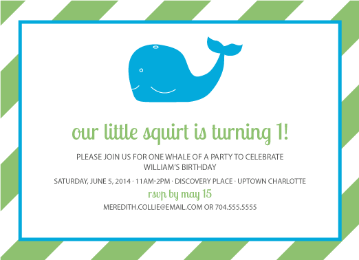 party invitations - Our Little Squirt by Meredith Collie