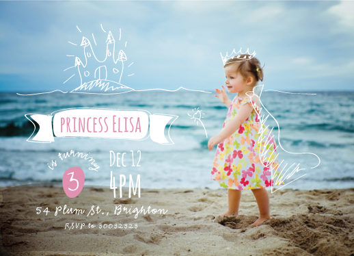 party invitations - princess in the beach by Ligia Kuhn